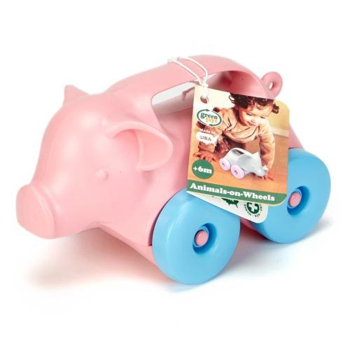 Green Toys Animals on Wheels - Pig