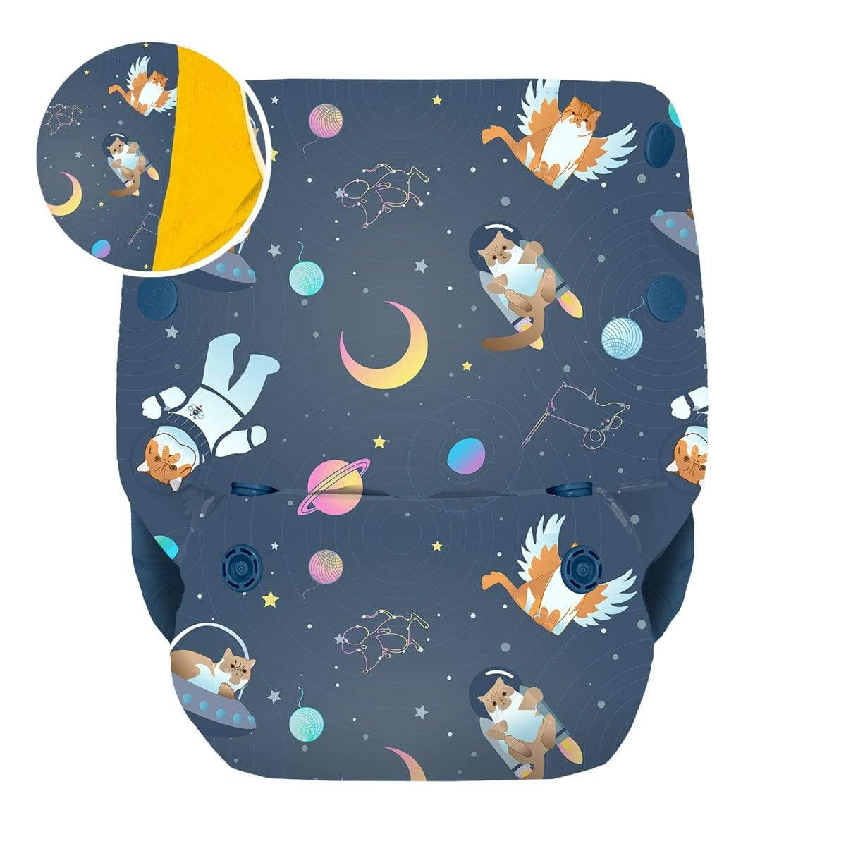 GroVia All in One Diaper - All Good Cats Go To Space