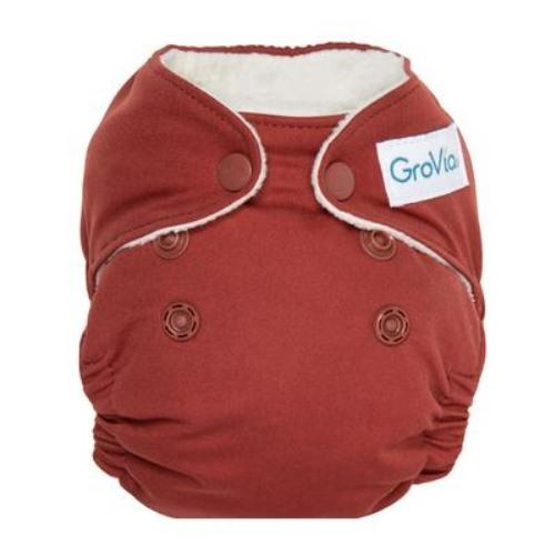GroVia Newborn All in One Diaper - Marsala