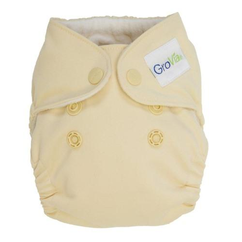GroVia Newborn All in One Diaper - Vanilla