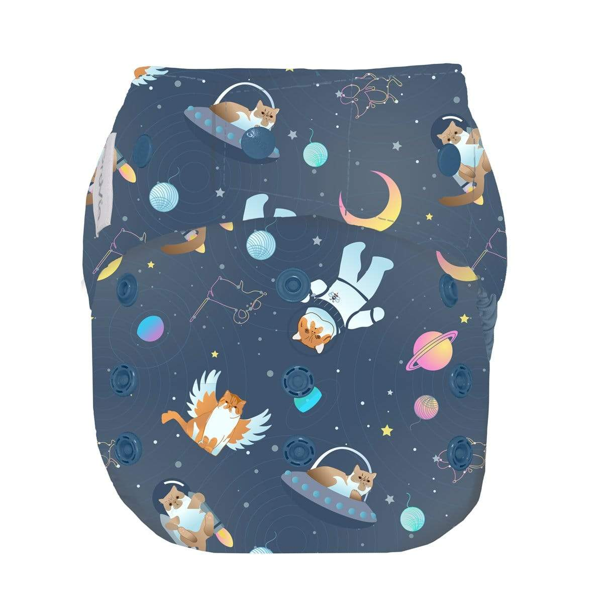 GroVia One Size Snap Diaper Shell - All Good Cats Go To Space