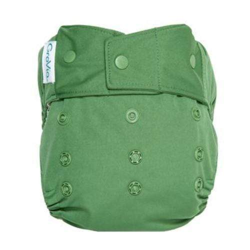 GroVia One Size Snap Hybrid Diaper Cover - Basil One Size