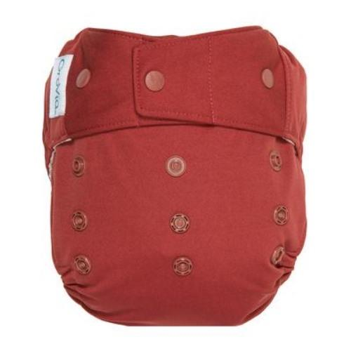 GroVia One Size Snap Hybrid Diaper Cover - Marsala One Size