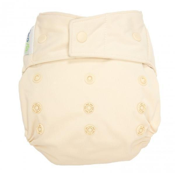 GroVia One Size Snap Hybrid Diaper Cover - Vanilla One Size