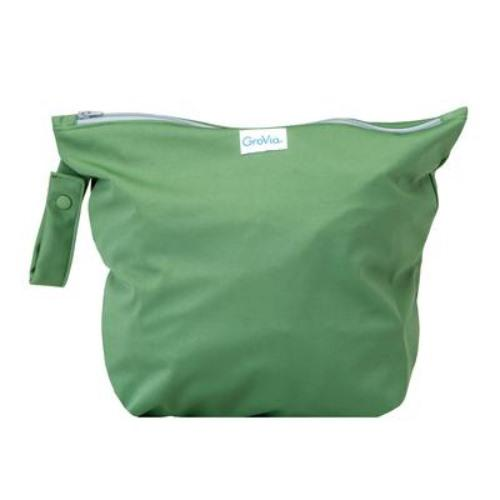 GroVia Zippered Wet Bag - Basil