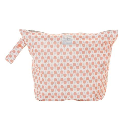 GroVia Zippered Wet Bag - Grapefruit Ice Cream