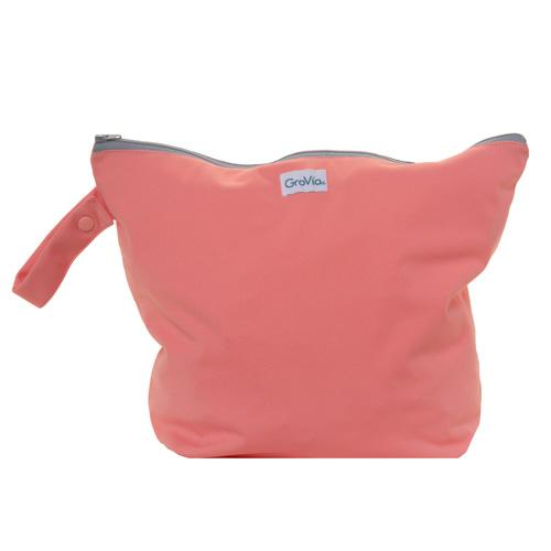 GroVia Zippered Wet Bag - Rose