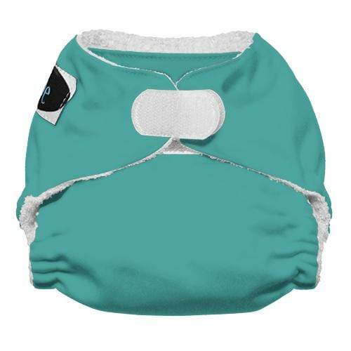 Imagine Newborn Hook and Loop Bamboo All in One Diaper - Aquamarine