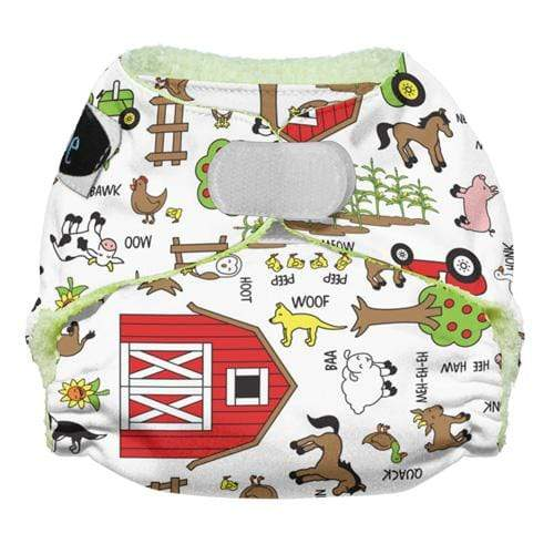 Imagine Newborn Hook and Loop Bamboo All in One Diaper - Barnyard Jam Newborn