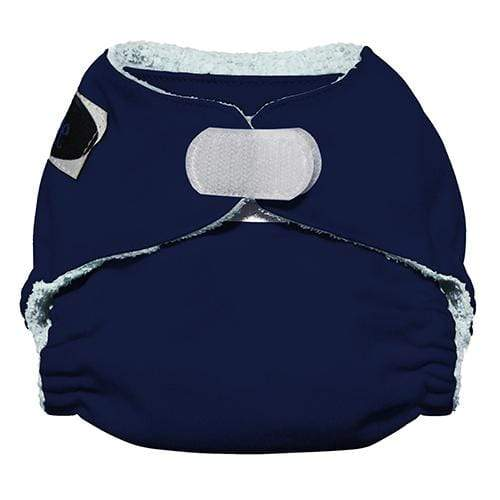 Imagine Newborn Hook and Loop Bamboo All in One Diaper - Navy Fleet Newborn
