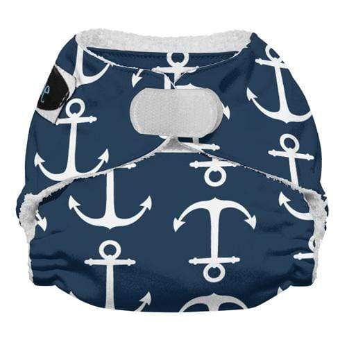 Imagine Newborn Hook and Loop Bamboo All in One Diaper - Overboard Newborn