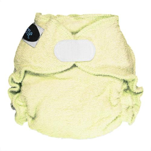 Imagine Newborn Hook and Loop Bamboo Fitted Diaper - Marigold Newborn