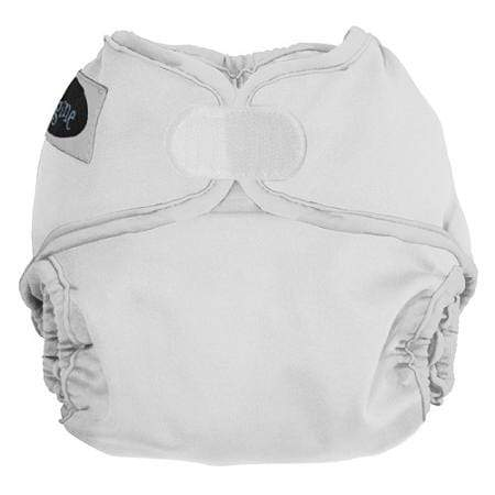 Imagine Newborn Hook and Loop Diaper Cover - Snow - Nicki's Diapers