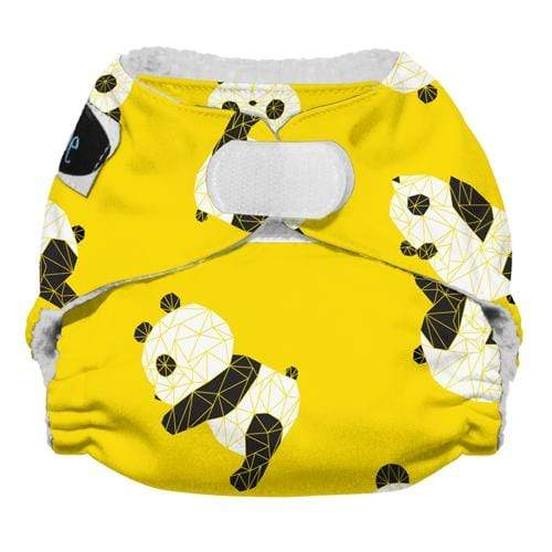 Imagine Newborn Hook and Loop Stay Dry All in One Diaper - Panda Fold Newborn
