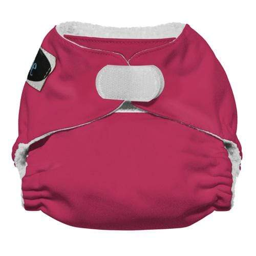 Imagine Newborn Hook and Loop Stay Dry All in One Diaper - Raspberry Newborn