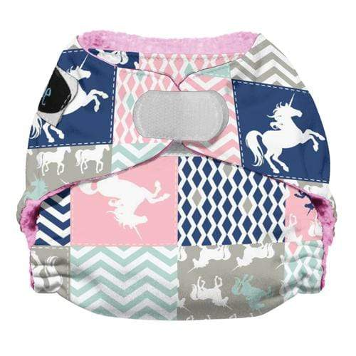 Imagine Newborn Hook and Loop Stay Dry All in One Diaper - Unicorn Dreams Newborn