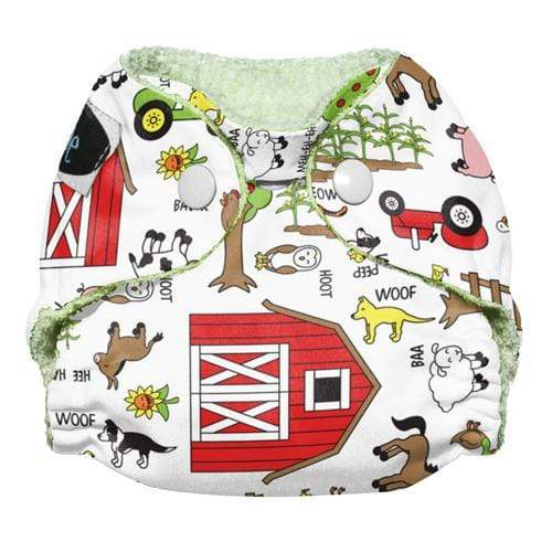 Imagine Newborn Snap Bamboo All in One Diaper - Barnyard Jam Newborn