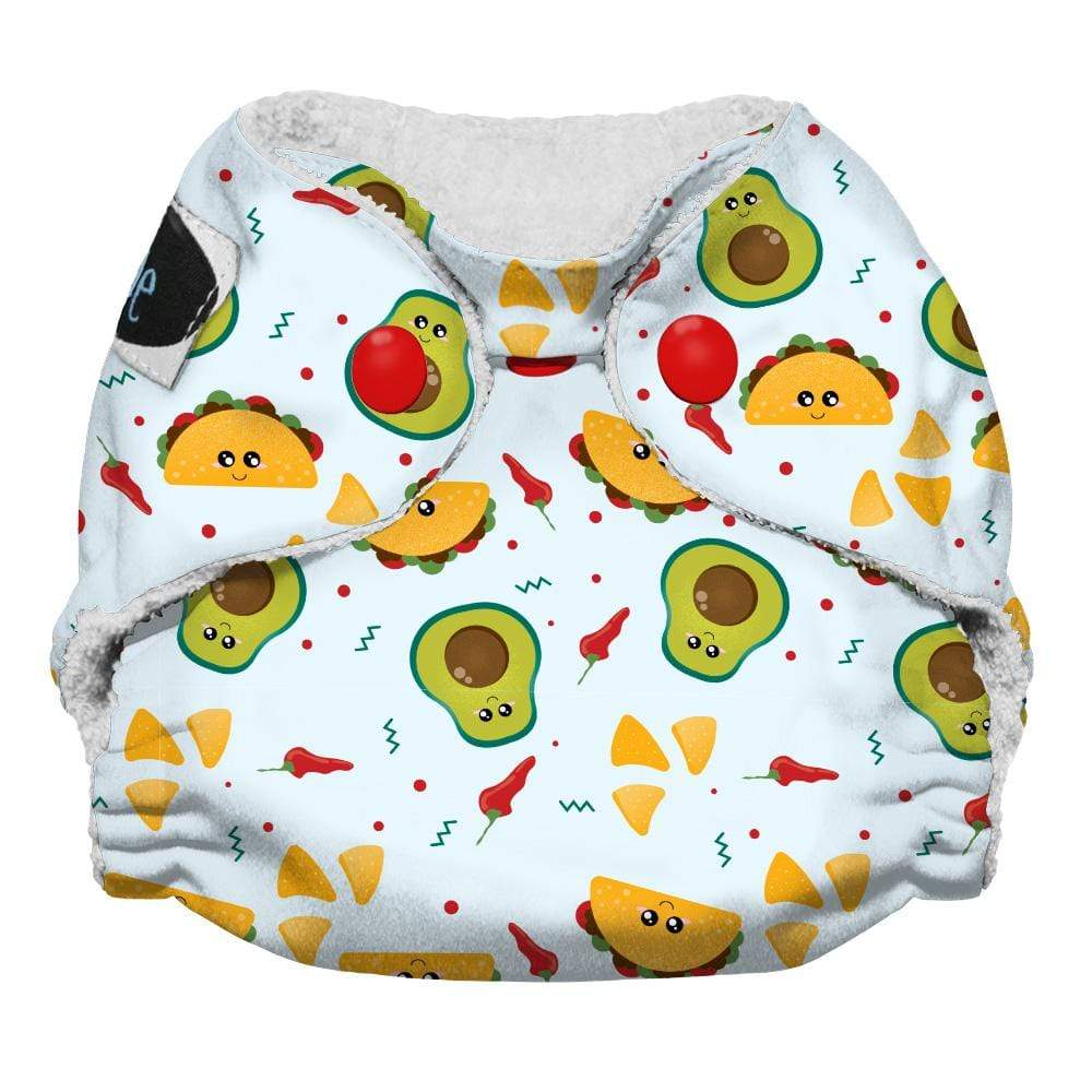 Imagine Newborn Snap Bamboo All in One Diaper - Nacho Problem
