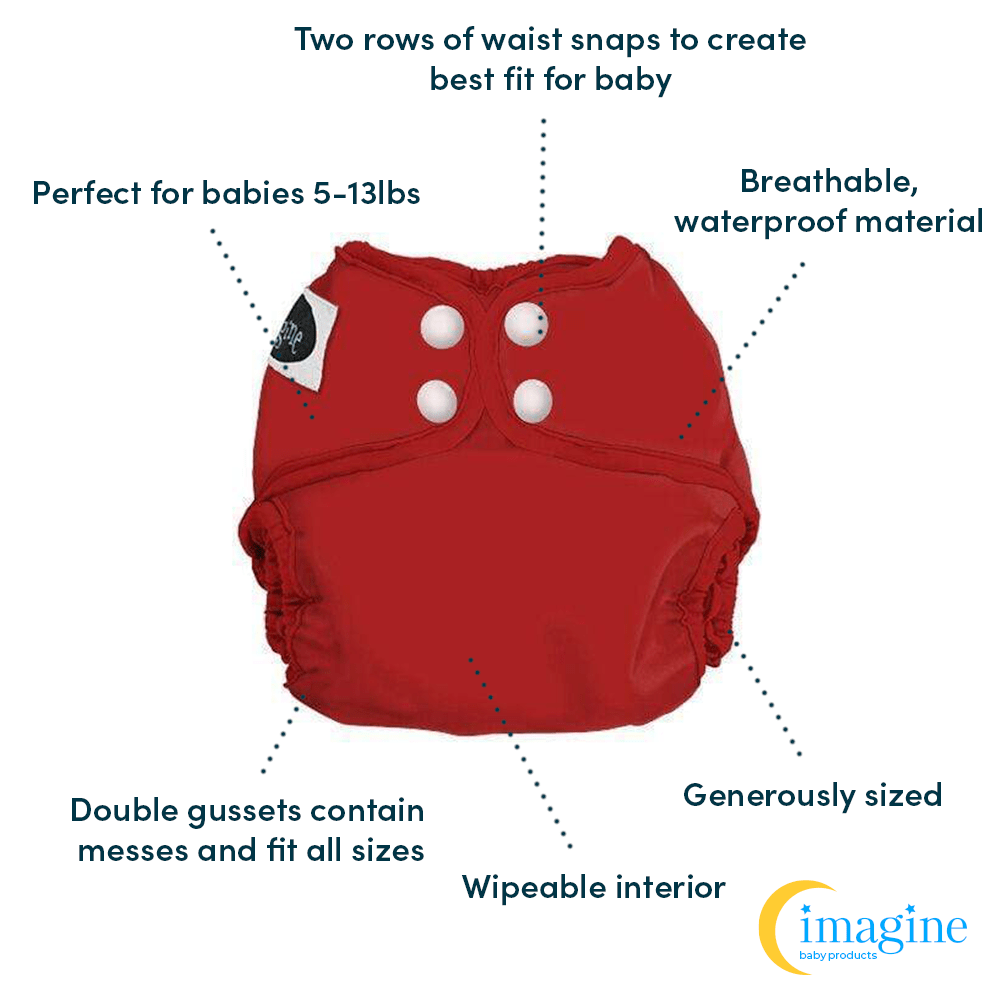 Imagine Newborn Snap Diaper Cover - Indigo