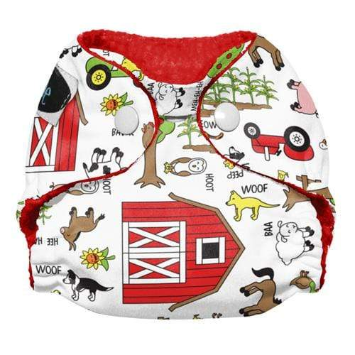 Imagine Newborn Snap Stay Dry All in One Diaper - Barnyard Jam Newborn