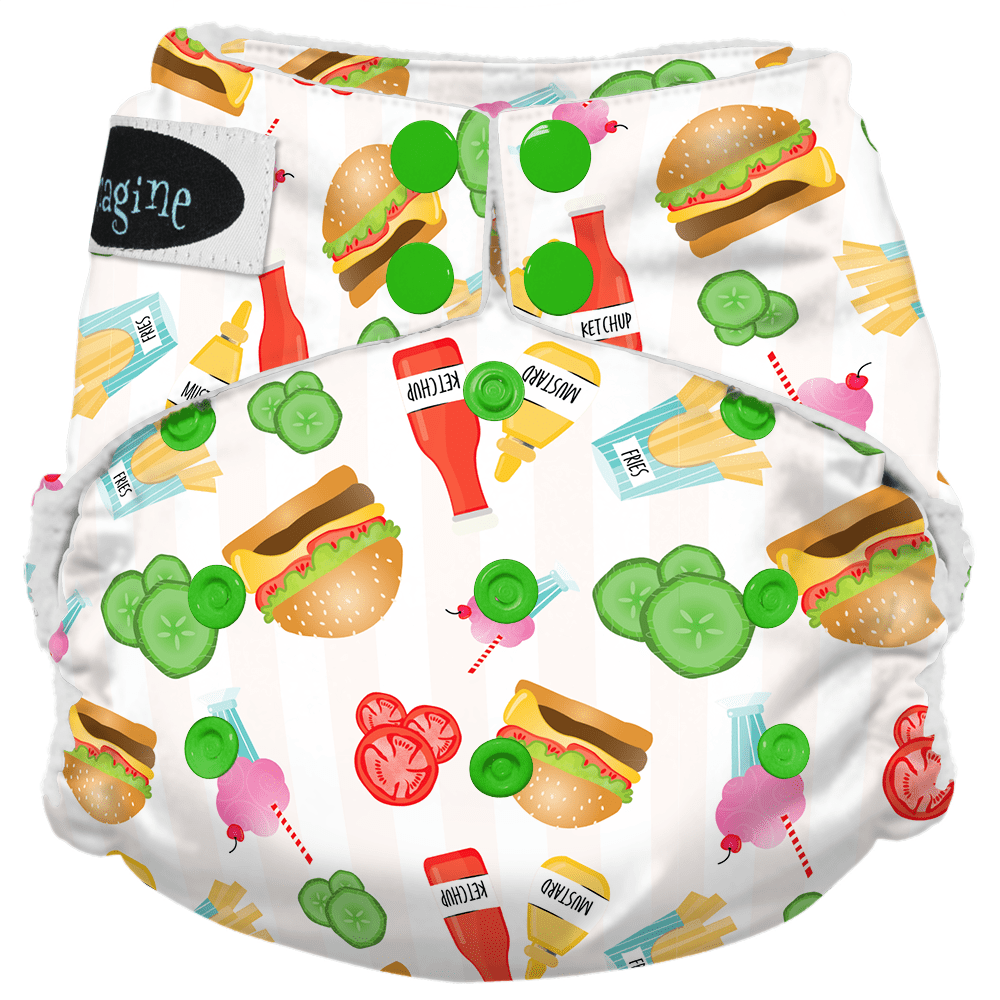 Imagine Newborn Snap Stay Dry All in One Diaper - Dine n' Dash