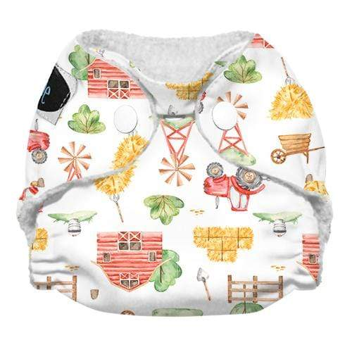 Imagine Newborn Snap Stay Dry All in One Diaper - Little Farmer
