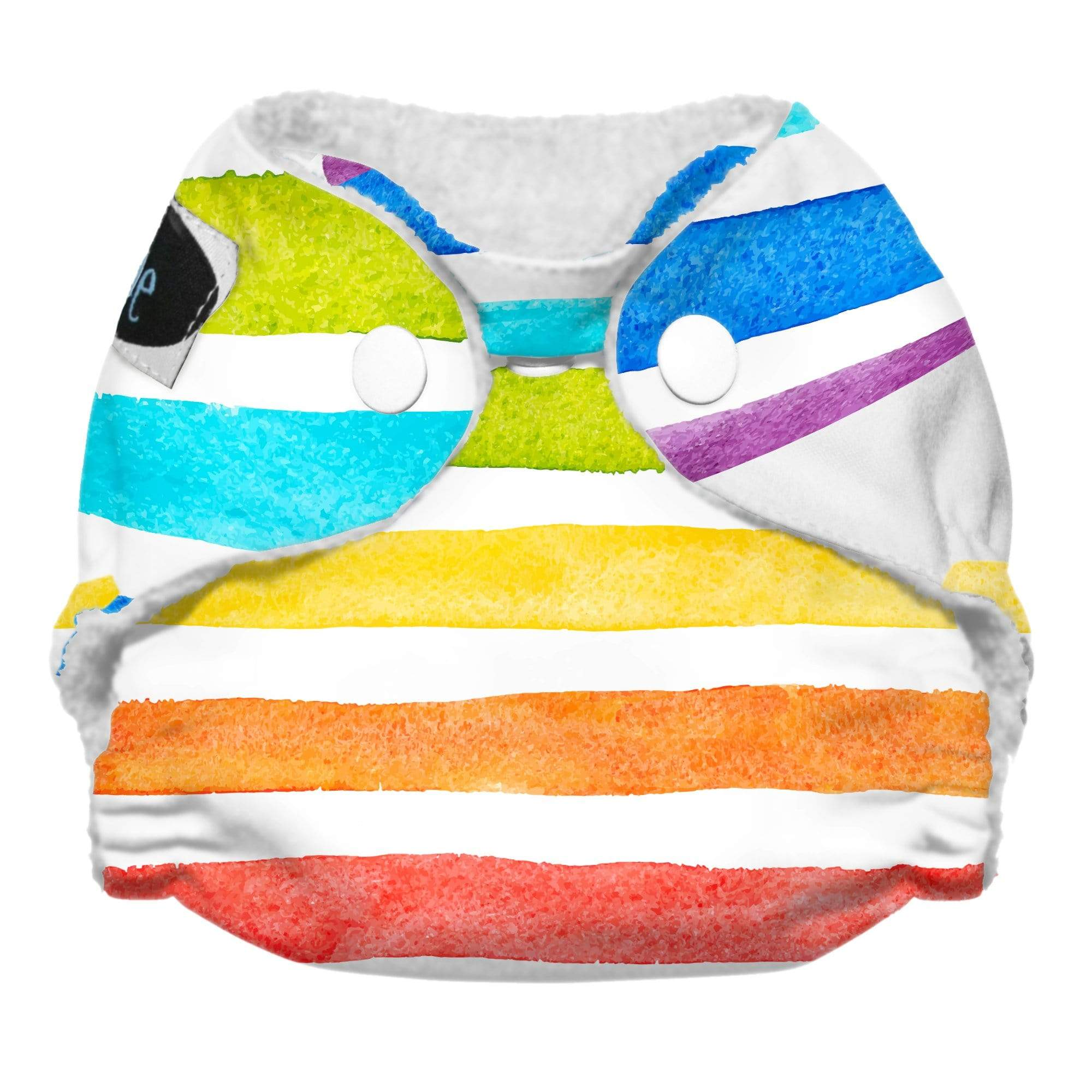 Imagine Newborn Snap Stay Dry All in One Diaper - Rainbow Connection