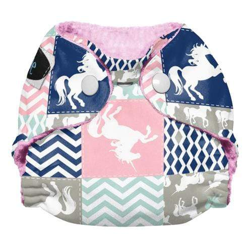 Imagine Newborn Snap Stay Dry All in One Diaper - Unicorn Dreams Newborn