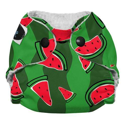 Imagine Newborn Snap Stay Dry All in One Diaper - Watermelon Patch Newborn
