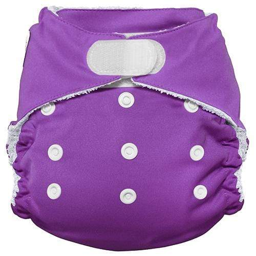 Imagine One Size Hook and Loop Bamboo All in One Diaper - Amethyst