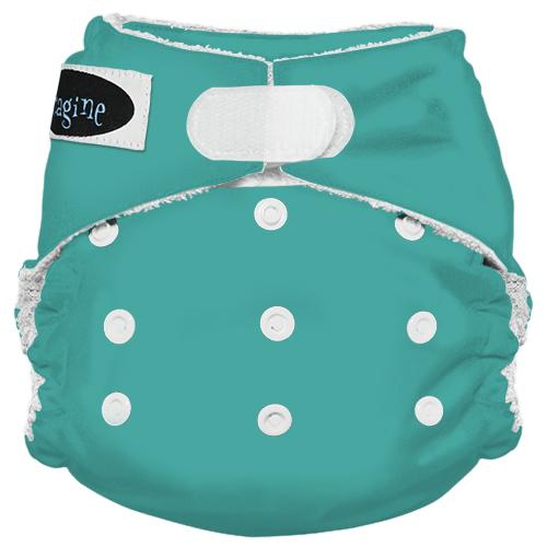 Imagine One Size Hook and Loop Bamboo All in One Diaper - Aquamarine
