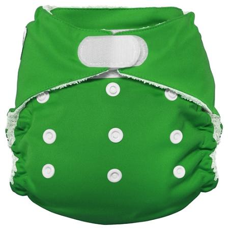 Imagine One Size Hook and Loop Bamboo All in One Diaper - Emerald