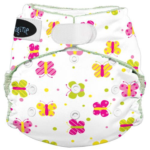 Imagine One Size Hook and Loop Bamboo All in One Diaper - Flutter