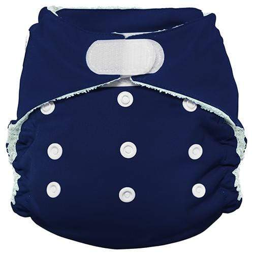 Imagine One Size Hook and Loop Bamboo All in One Diaper - Navy Fleet