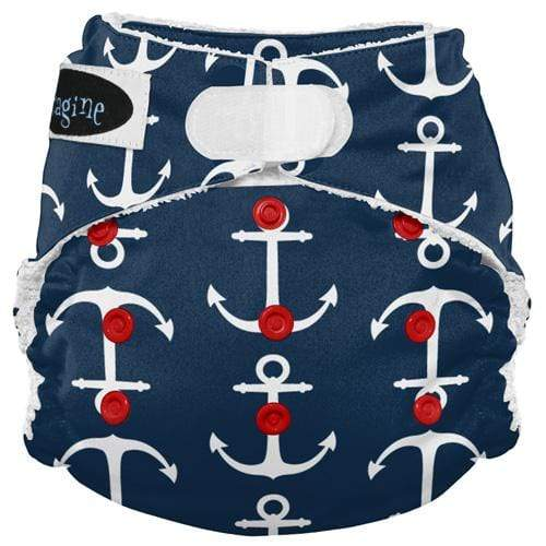 Imagine One Size Hook and Loop Bamboo All in One Diaper - Overboard