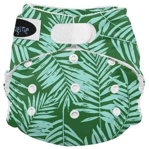 Imagine One Size Hook and Loop Bamboo All in One Diaper - Palm Beach