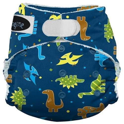 Imagine One Size Hook and Loop Bamboo All in One Diaper - Rawr