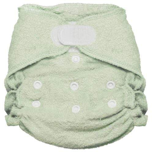 Imagine One Size Hook and Loop Bamboo Fitted Diaper - Emerald