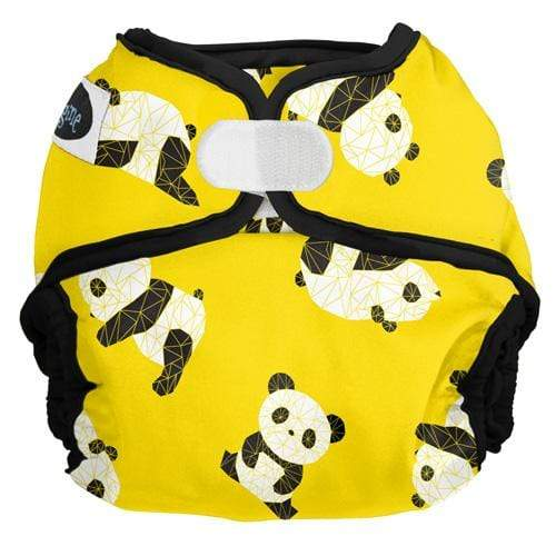 Imagine One Size Hook and Loop Diaper Cover - Panda Fold