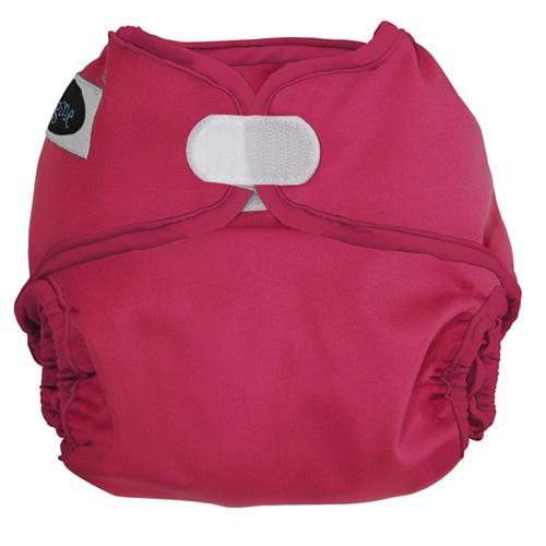 Imagine One Size Hook and Loop Diaper Cover - Raspberry