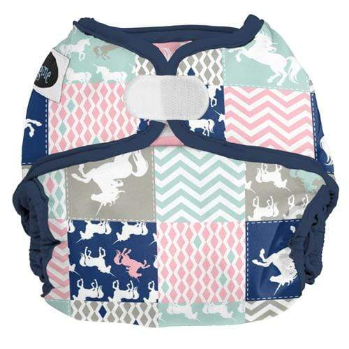 Imagine One Size Hook and Loop Diaper Cover - Unicorn Dreams