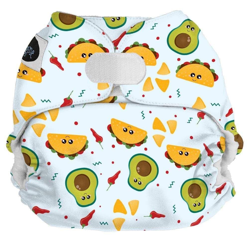 Imagine One Size Hook and Loop Pocket Diaper - Nacho Problem