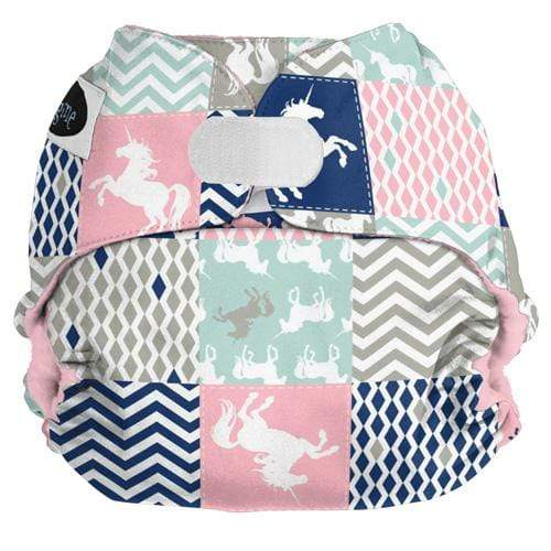 Imagine One Size Hook and Loop Pocket Diaper - Unicorn Dreams