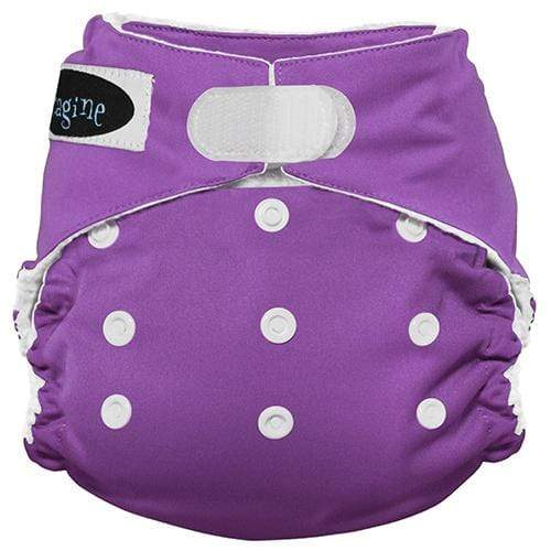 Imagine One Size Hook and Loop Stay Dry All in One Diaper - Amethyst