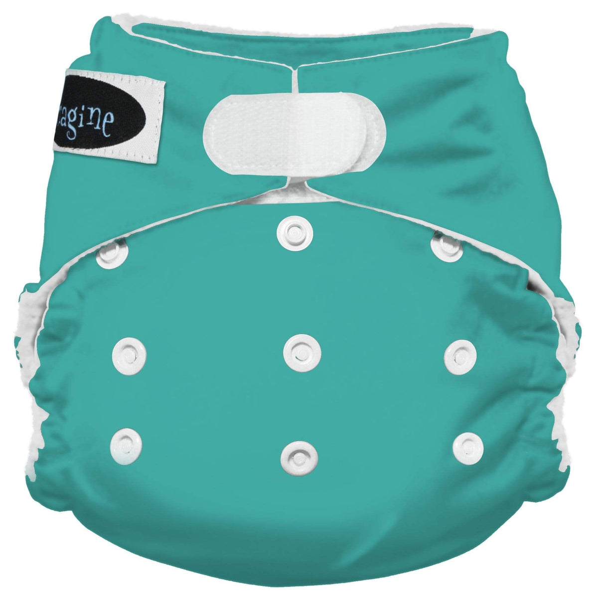 Imagine One Size Hook and Loop Stay Dry All in One Diaper - Aquamarine