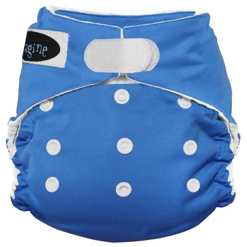 Imagine One Size Hook and Loop Stay Dry All in One Diaper - Indigo