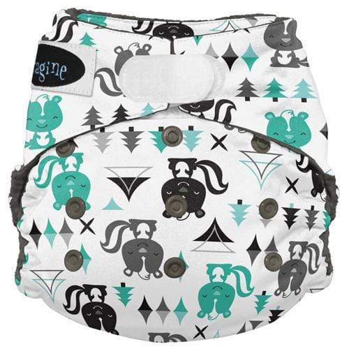 Imagine One Size Hook and Loop Stay Dry All in One Diaper - Lil Stinker
