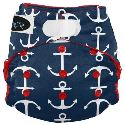 Imagine One Size Hook and Loop Stay Dry All in One Diaper - Overboard