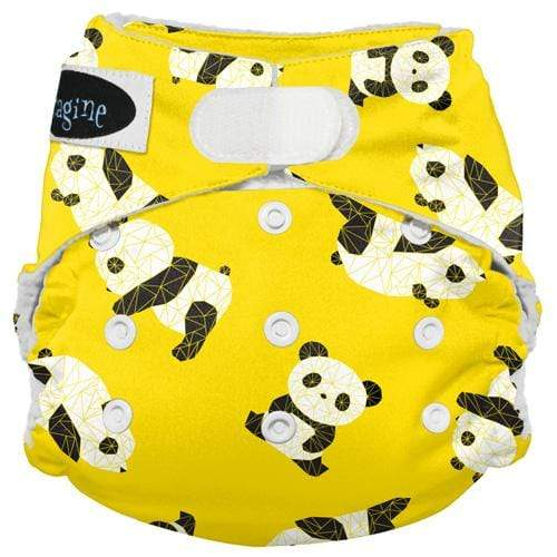 Imagine One Size Hook and Loop Stay Dry All in One Diaper - Panda Fold