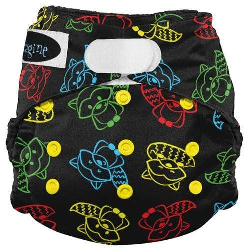Imagine One Size Hook and Loop Stay Dry All in One Diaper - Raccoon Ruckus